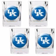 Kentucky Wildcats 4 Piece Square Shot Glasses