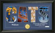 Kentucky Wildcats Basketball Silhouette Bronze Coin Panoramic Photo Mint