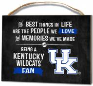 Kentucky Wildcats Best Things Small Plaque