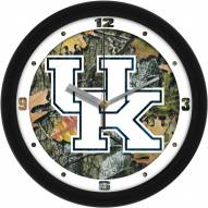 Kentucky Wildcats Camo Wall Clock