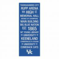 Kentucky Wildcats Canvas Color Subway Art