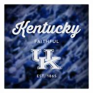Kentucky Wildcats Canvas Logo Art