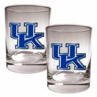 Kentucky Wildcats College 2-Piece 14 Oz. Rocks Glass Set