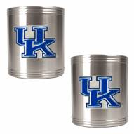 Kentucky Wildcats College Stainless Steel Can Holder 2-Piece Set