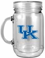 Kentucky Wildcats Double Walled Mason Jar
