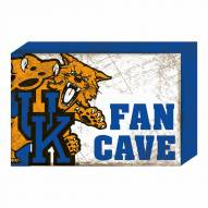Kentucky Wildcats Fan Cave Wooden Plock