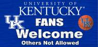 Kentucky Wildcats Fans Welcome Wood Sign