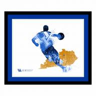 Kentucky Wildcats Framed Silhouette Art