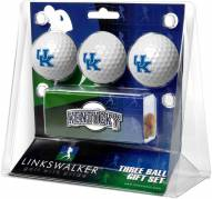 Kentucky Wildcats Golf Ball Gift Pack with Slider Clip