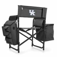 Kentucky Wildcats Gray/Black Fusion Folding Chair