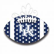 Kentucky Wildcats Metal Football Door Decor