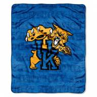 Kentucky Wildcats Micro Grunge Blanket