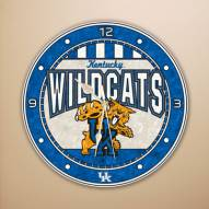 Kentucky Wildcats NCAA Stained Glass Wall Clock