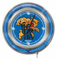 Kentucky Wildcats Neon Clock