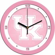 Kentucky Wildcats Pink Wall Clock