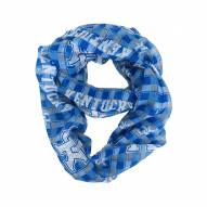 Kentucky Wildcats Plaid Sheer Infinity Scarf