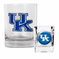 Kentucky Wildcats Rocks Glass & Shot Glass Set