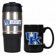 Kentucky Wildcats Travel Tumbler & Coffee Mug Set