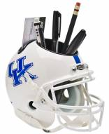 Kentucky Wildcats White Schutt Football Helmet Desk Caddy