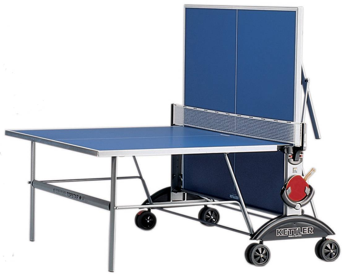 Kettler top star xl outdoor ping pong table for Table ping pong