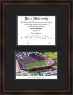 University of Iowa Kinnick Stadium Diplomate Framed Lithograph with Diploma Opening