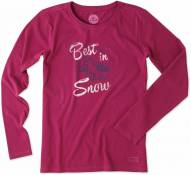 Life is Good Women's Crusher Long Sleeve Best In Snow Shirt