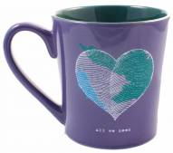 Life is Good Everyday Mug Heart - Blue Violet