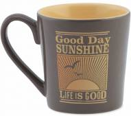 Life is Good Everyday Mug Good Day Sunshine - Shale Brown