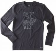 Life is Good Men's Crusher Long Sleeve Enjoy The Ride Jeep