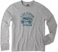 Life is Good Men's Crusher Long Sleeve Go Places Jeep Tee