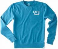 Life is Good Men's LIG Embroidered Go-To Crew Sweatshirt