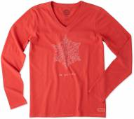 Life is Good Women's Be You Snowflake Crusher Vee Long Sleeve Shirt