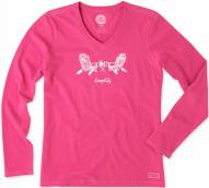 Life is Good Women's Crusher Vee Adirondack Chair Long Sleeve