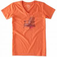 Life is Good Women's Crusher Vee Simple Adirondack T-Shirt