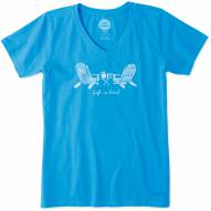 Life is Good Women's LIG Adirondack Chairs Crusher Vee T-Shirt