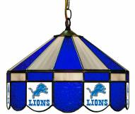 "Detroit Lions NFL Team 16"" Diameter Stained Glass Pub Light"