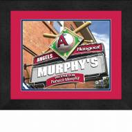 Los Angeles Angels 13 x 16 Personalized Framed Sports Pub Print