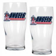 Los Angeles Angels 20 oz. Pub Glass - Set of 2