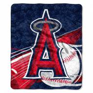 Los Angeles Angels Big Stick Sherpa Blanket