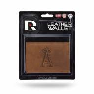Los Angeles Angels Brown Leather Trifold Wallet