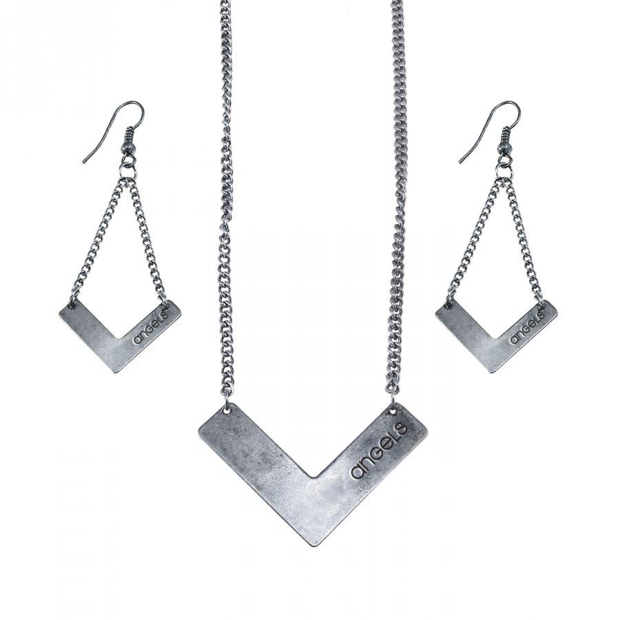 Los Angeles Angels Chevron Jewelry Set