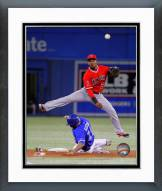 Los Angeles Angels Erick Aybar 2014 Action Framed Photo