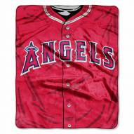 Los Angeles Angels Jersey Raschel Throw Blanket