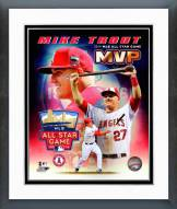 Los Angeles Angels Mike Trout 2014 All Star Game MVP Framed Photo
