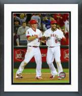 Los Angeles Angels Mike Trout & Albert Pujols 2015 Action Framed Photo