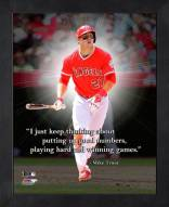 Los Angeles Angels Mike Trout Framed Pro Quote