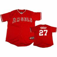 Los Angeles Angels Mike Trout Replica Alternate Scarlet Baseball Jersey