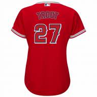 Los Angeles Angels Mike Trout Women's Replica Scarlet Alternate Baseball Jersey