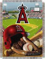 Los Angeles Angels MLB Woven Tapestry Throw Blanket