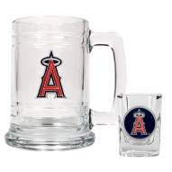 Los Angeles Angels of Anaheim MLB Boilermaker Set - Shot Glass & Tankard Mug